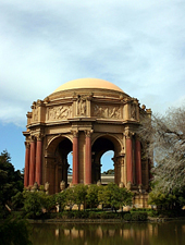 The Palace of Fine Arts on a beautiful day in San Francisco.